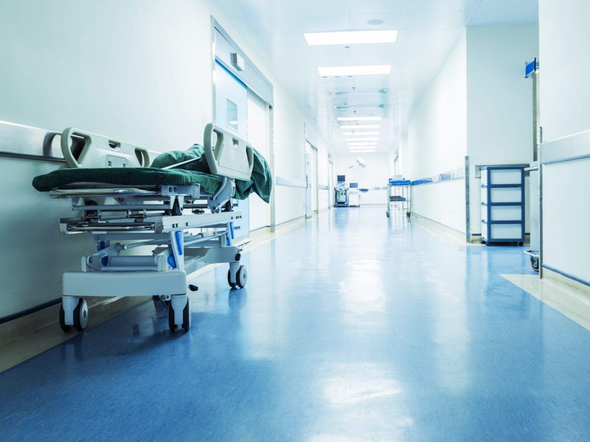 Empty hospital hallway