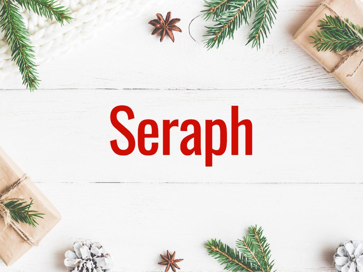 Christmas words - Seraph