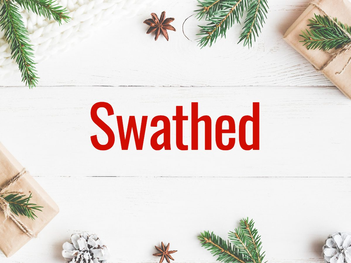 Christmas words - swathed