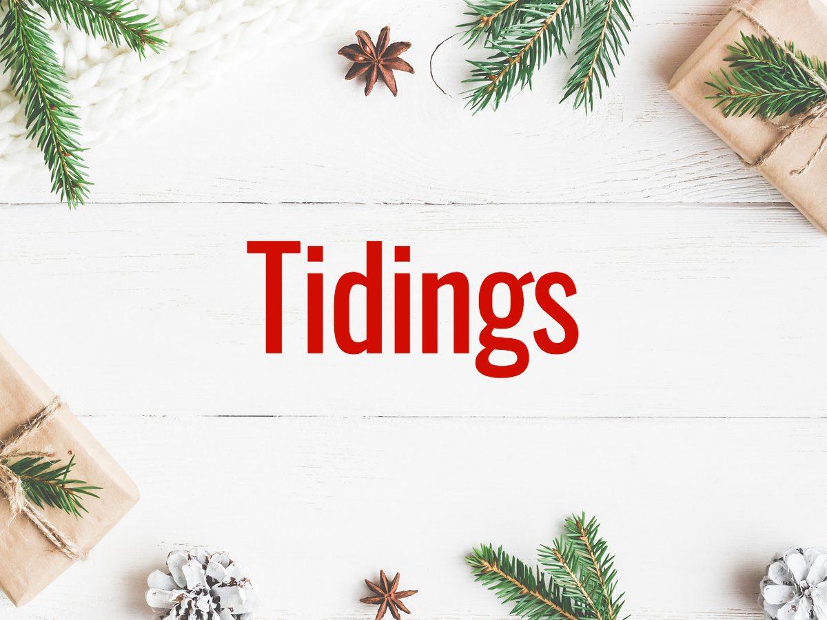 Christmas words - Tidings