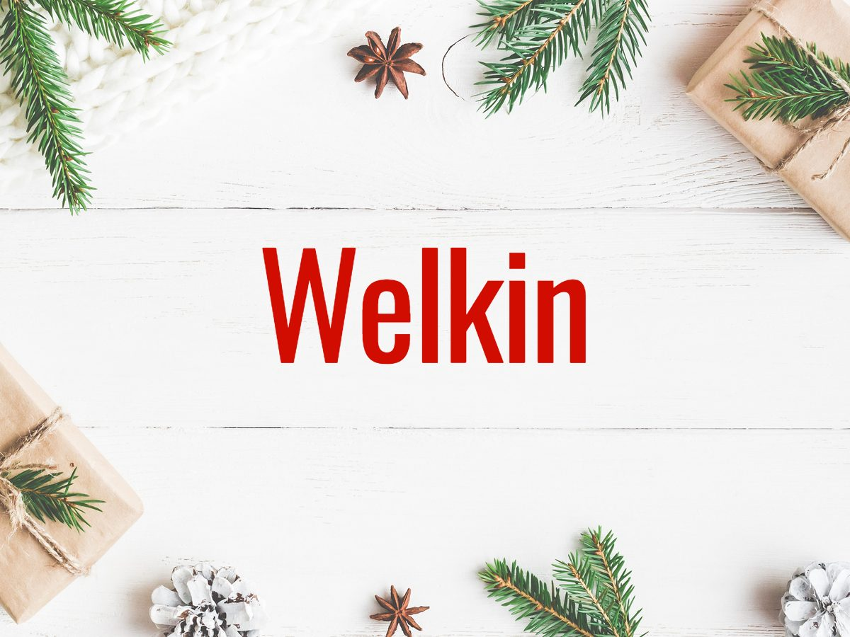 Christmas words - Welkin