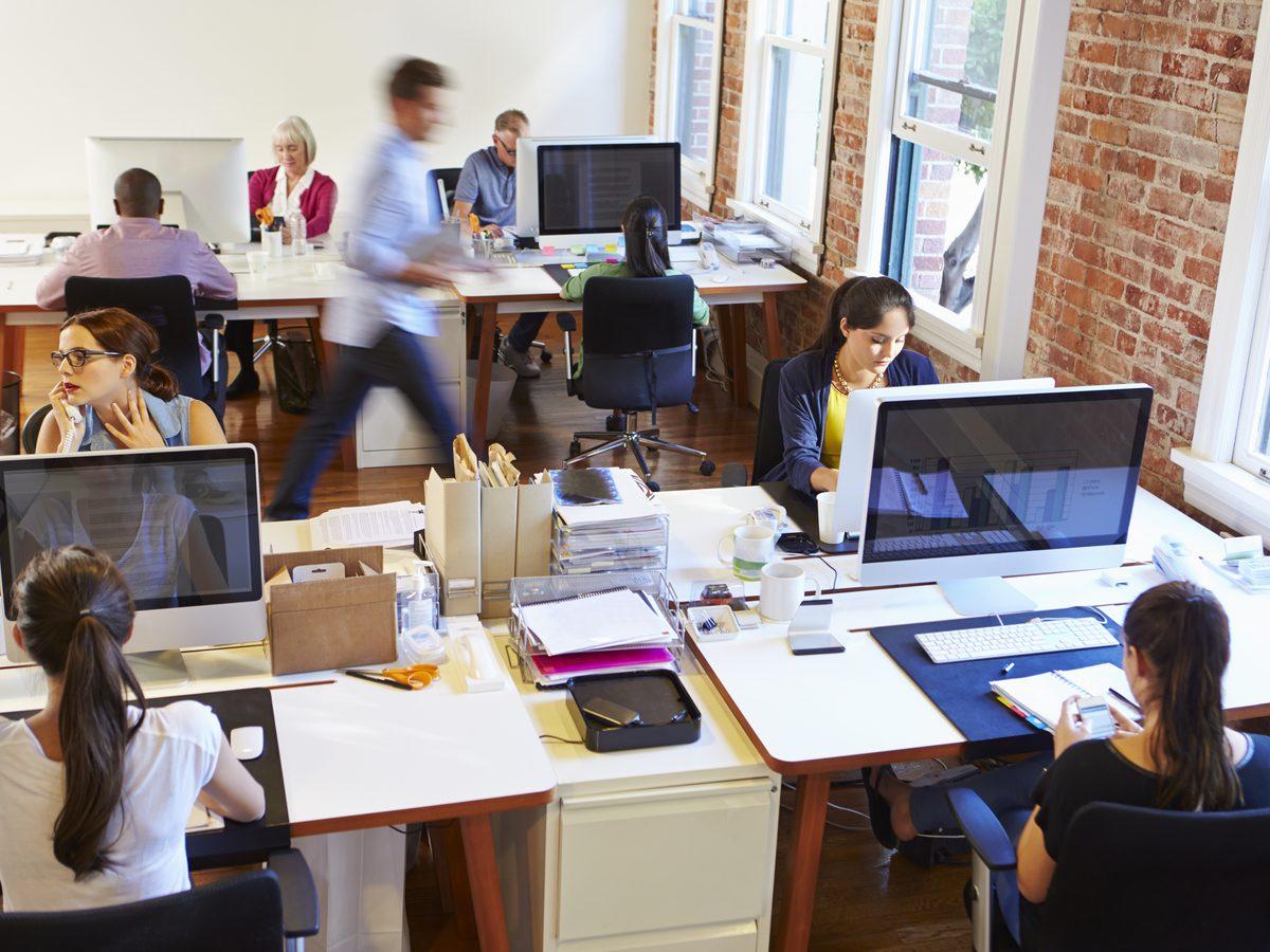 Modern office setting