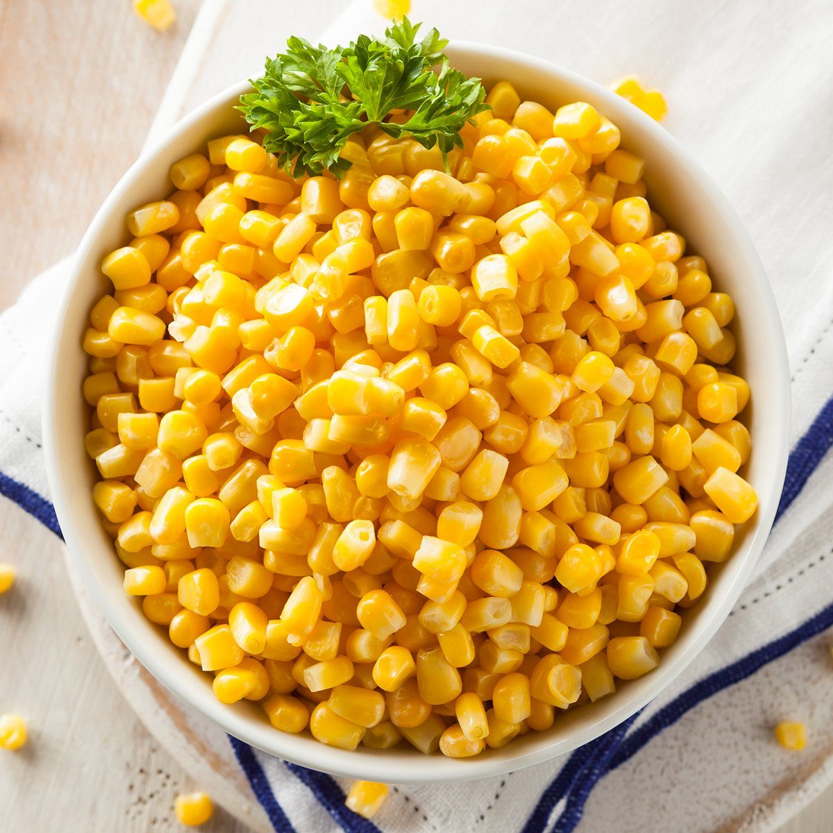 Organic Yellow Steamed Corn in a Bowl; Shutterstock ID 266295782; Job (TFH, TOH, RD, BNB, CWM, CM): TOH
