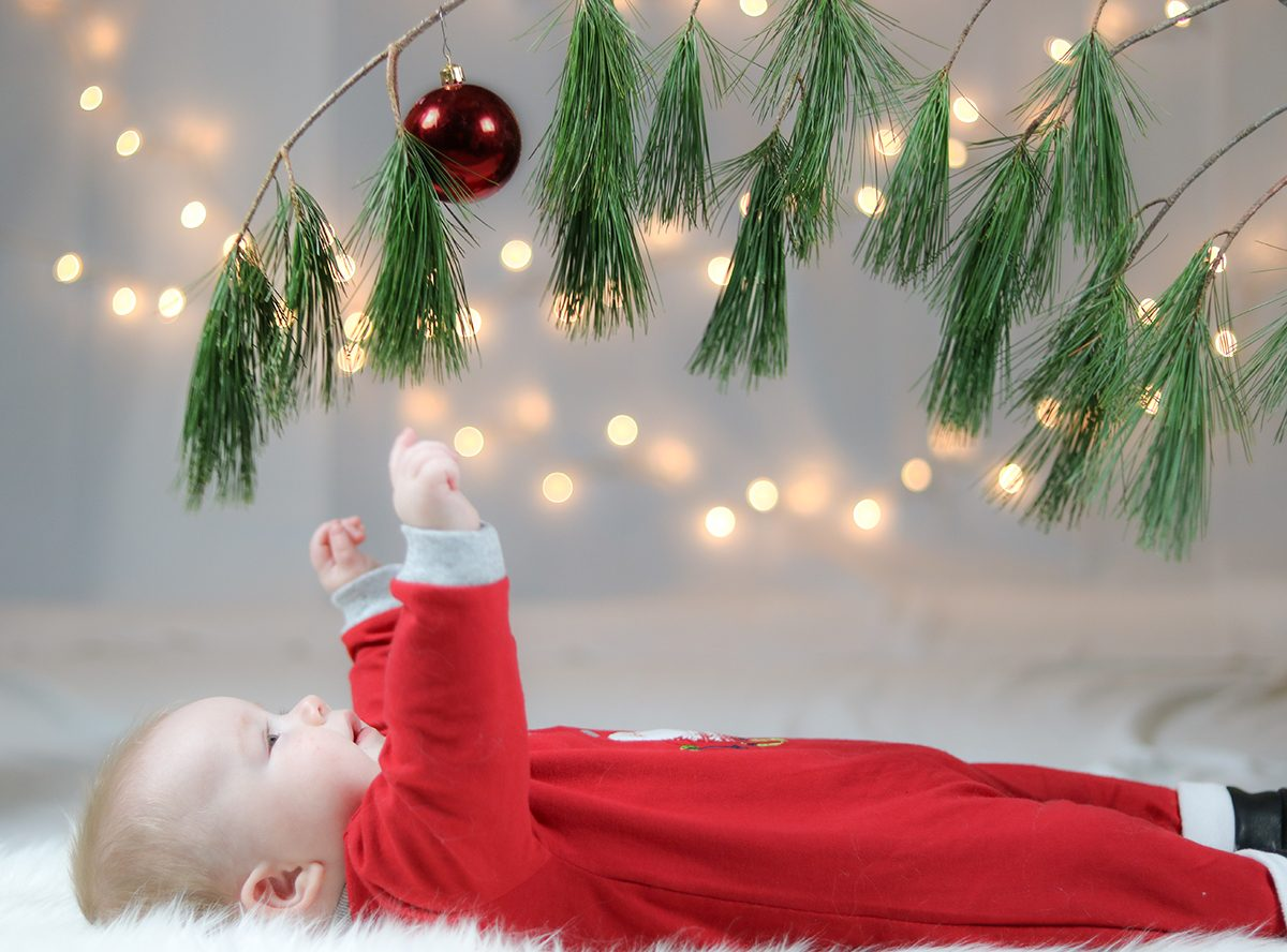 Deck the halls - baby at Christmas