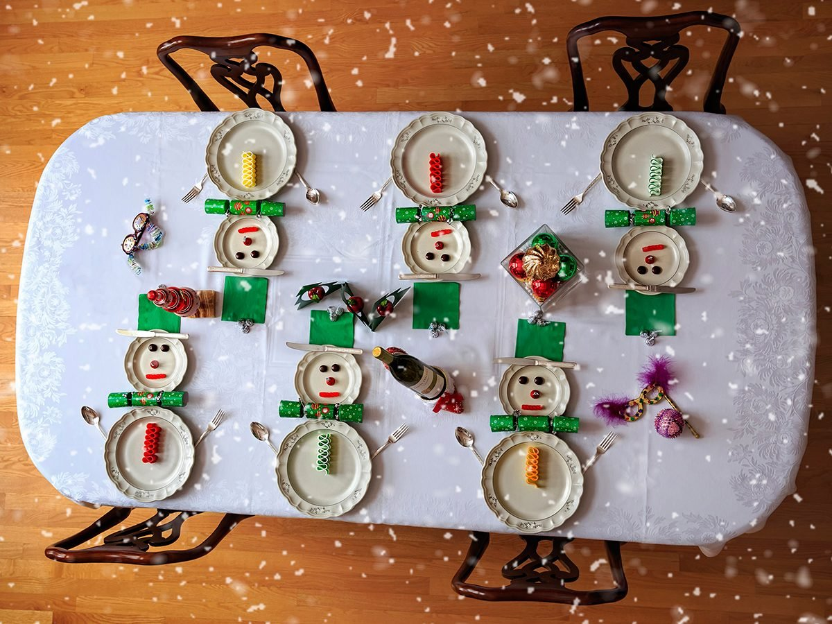 Deck the halls - holiday table setting