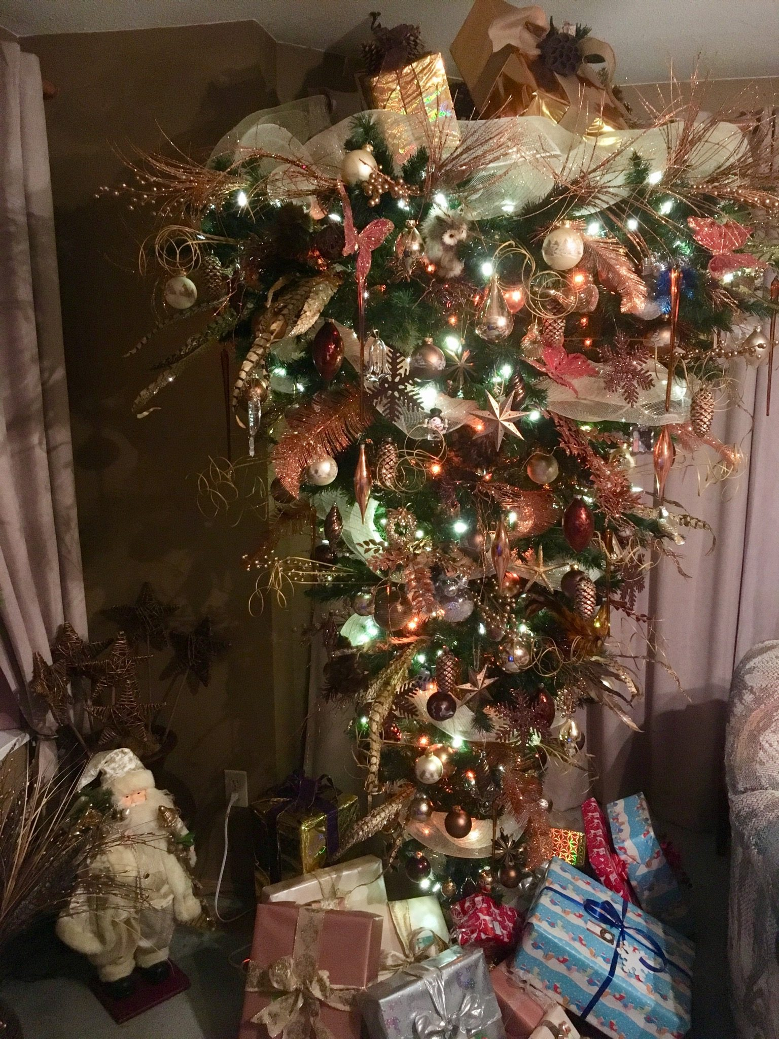 Deck the halls - upside down Christmas tree