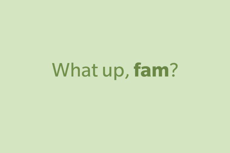 slang words fam