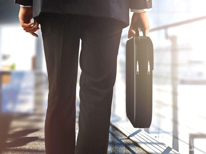 Hilarious work jokes - businessman briefcase