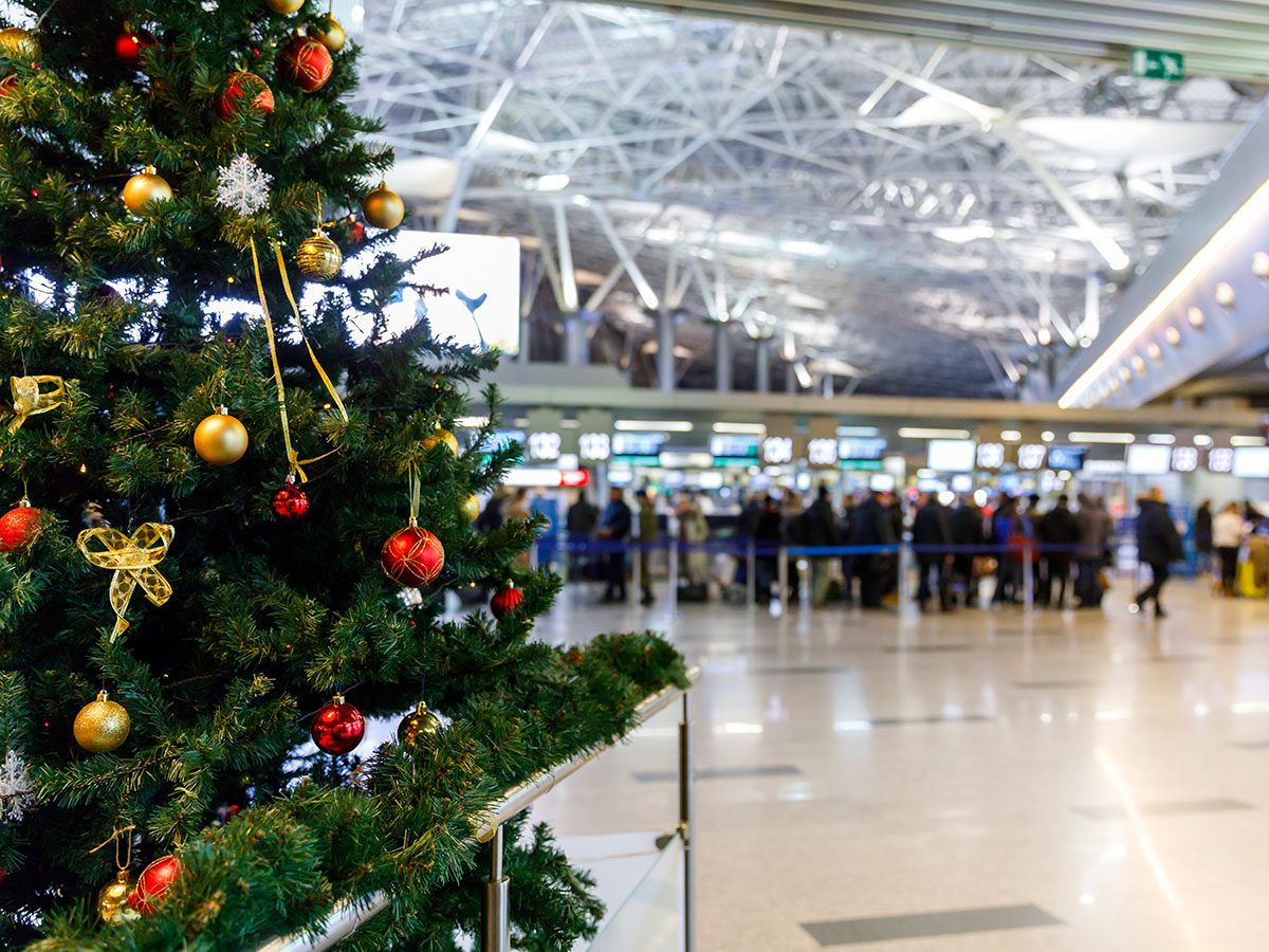 Holiday disasters - airport at Christmas