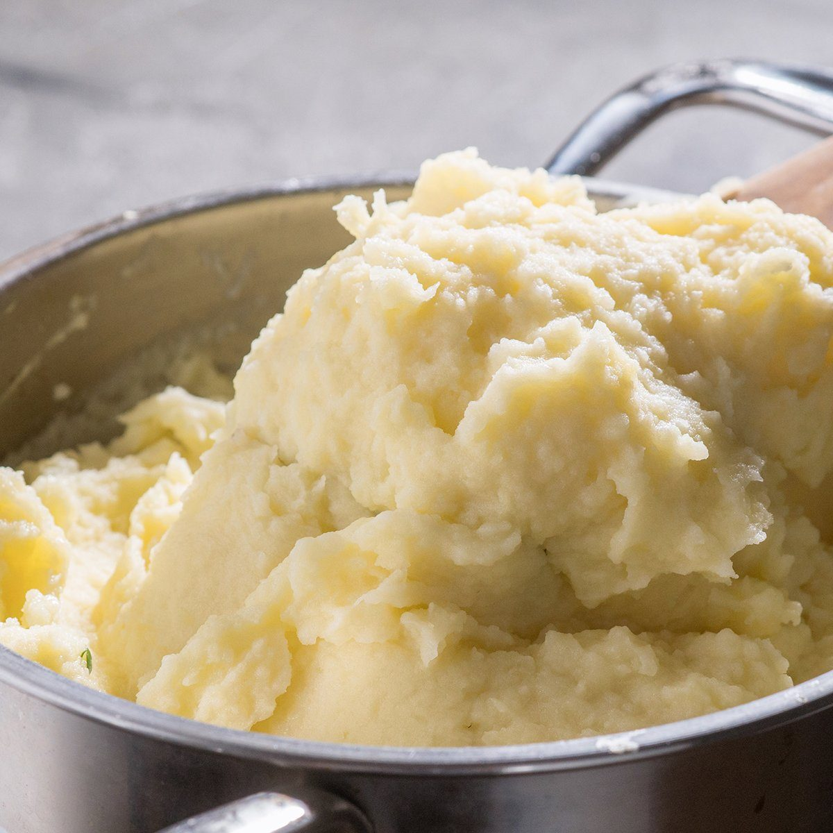 close up of a pot with mashed potato; Shutterstock ID 583739809; Job (TFH, TOH, RD, BNB, CWM, CM): TOH