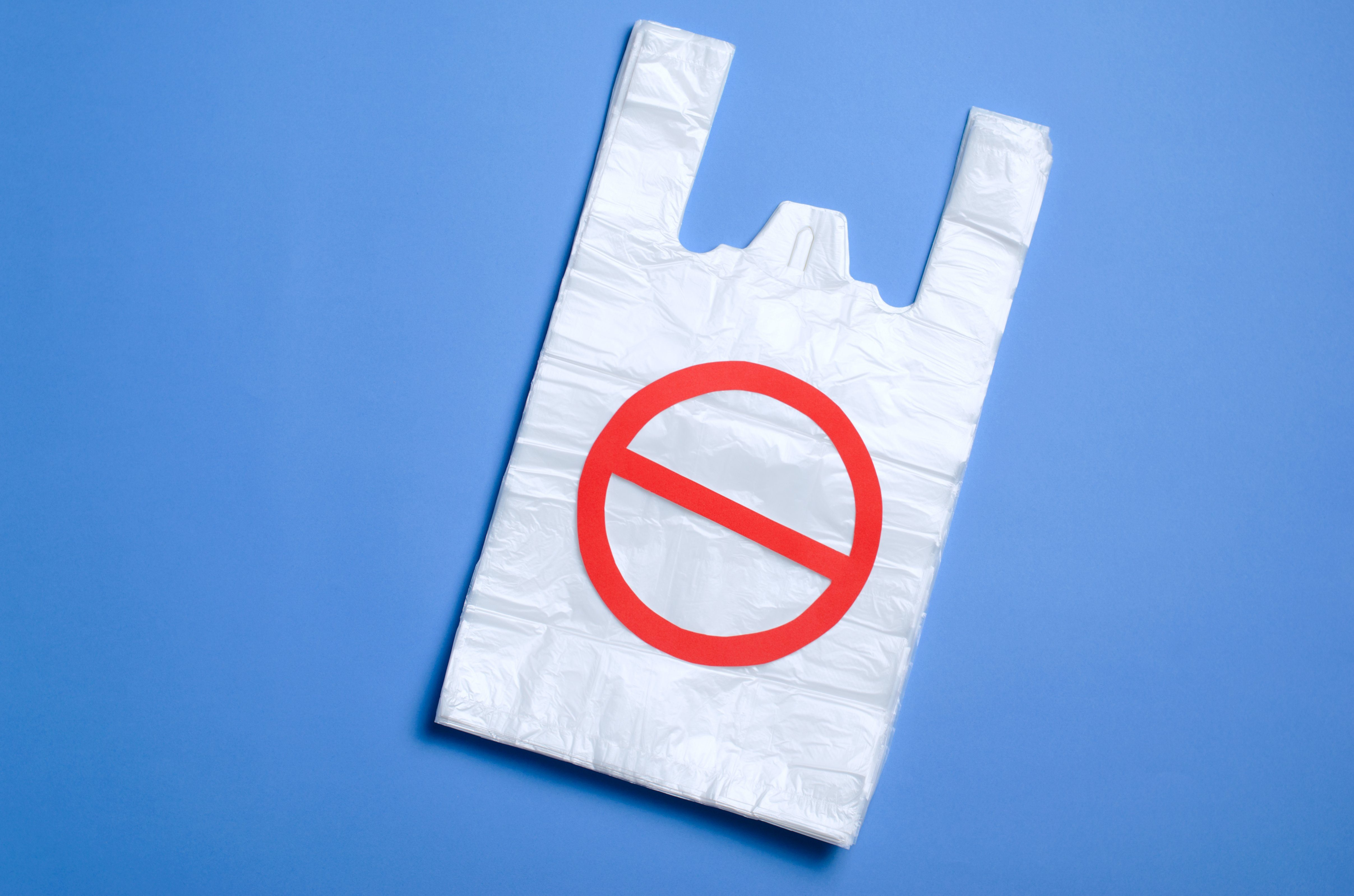 Say No to Plastic Bags, Recycle and Pollution Problem Concept