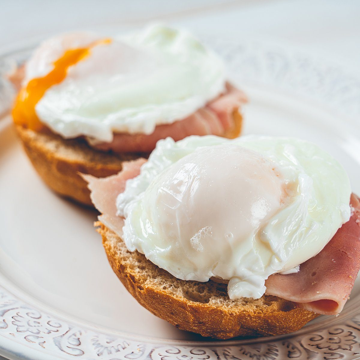 Ham And Poached Egg Sandwiches; Shutterstock ID 1535882378; Job (TFH, TOH, RD, BNB, CWM, CM): TOH