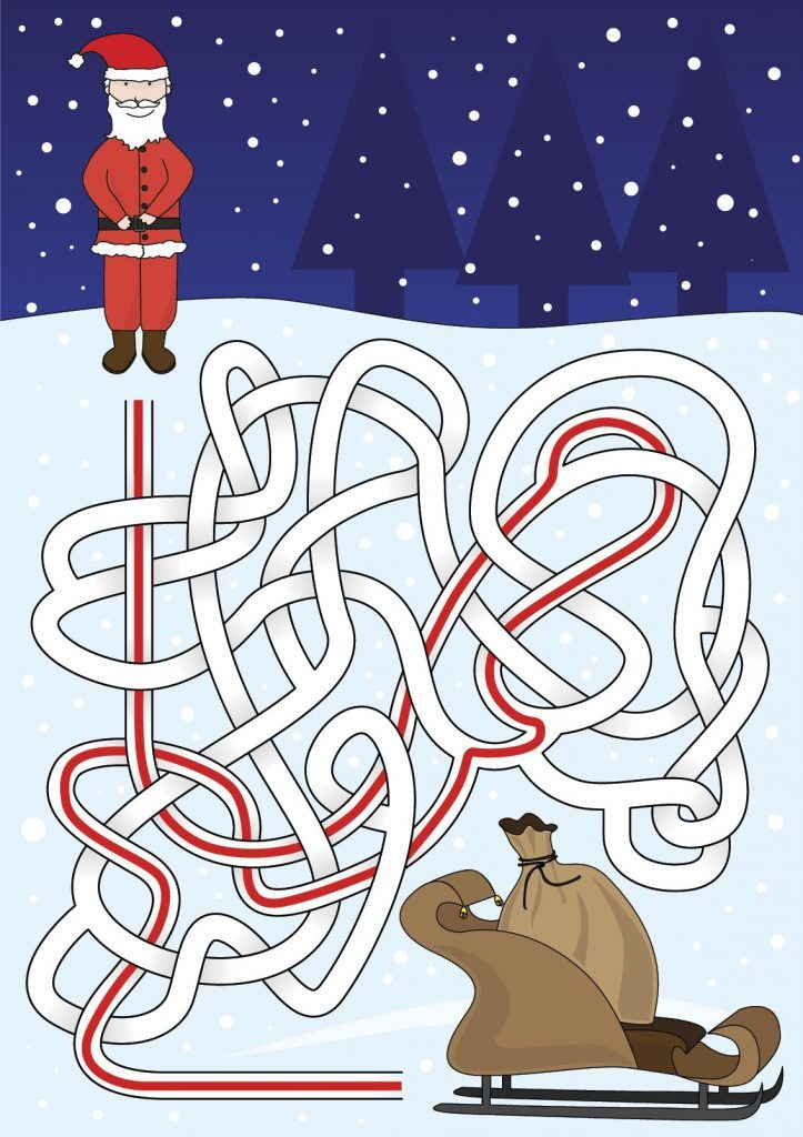 Santa maze answer illustration
