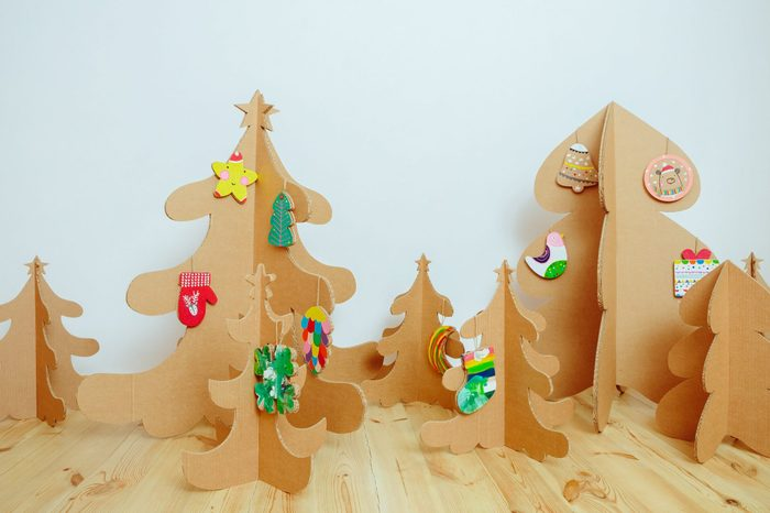 Christmas Tree Made Of Cardboard. Unique Trees. New Year
