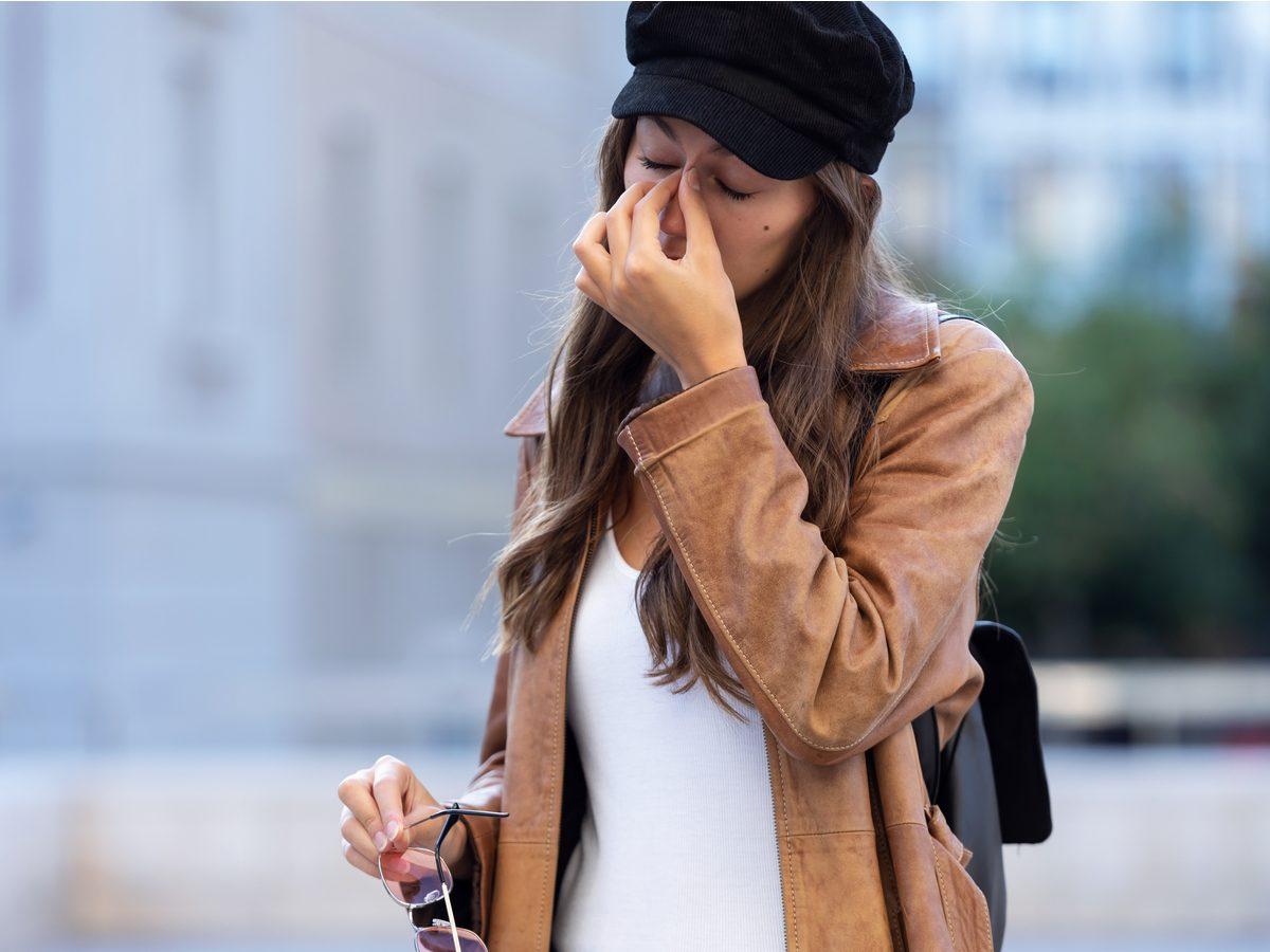 Woman feeling fatigue