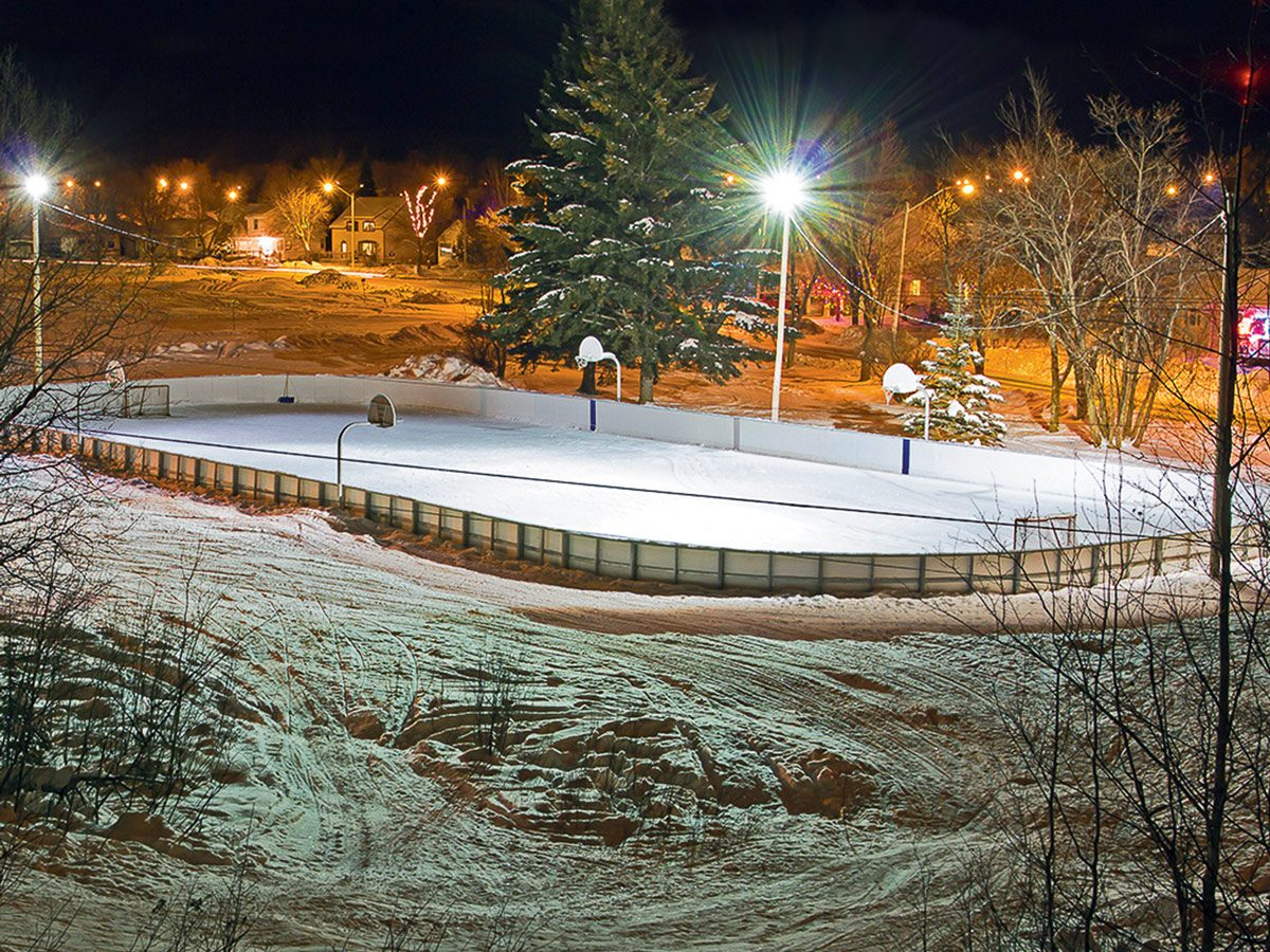 Hockey rink in Atikokan, Ontario