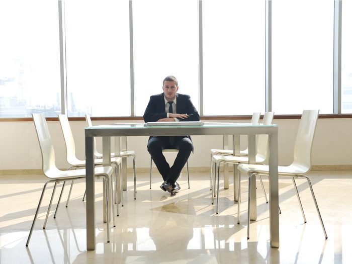 Alone in a meeting