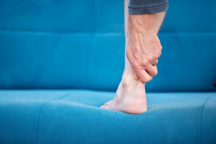 Man with an Achilles tendon injury.