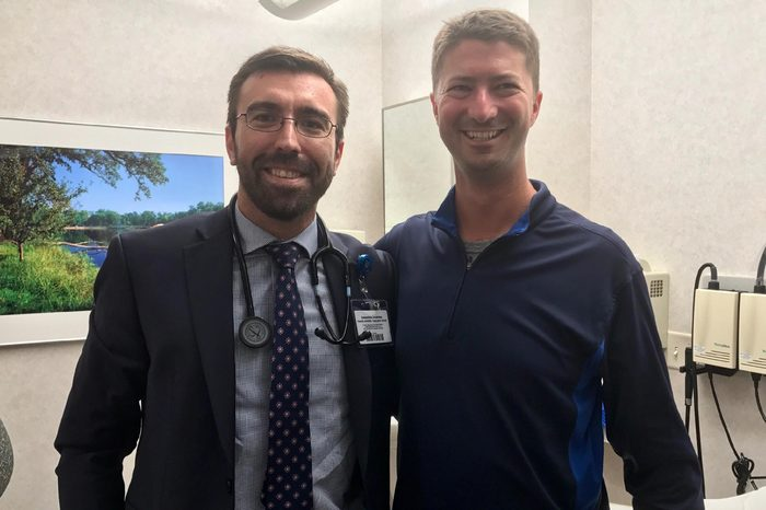 Frank Sierawski and his fearless oncologist Dr. Konstantinos Leventakos