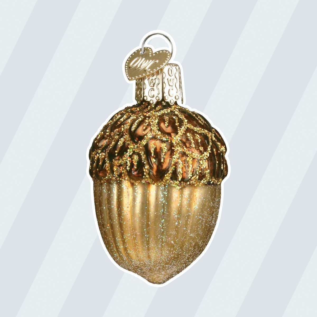 Old World Christmas Glass Blown Ornaments for Christmas Tree Acorn