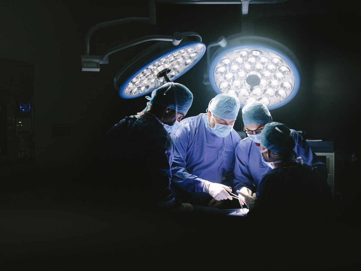 Surgery in operation room