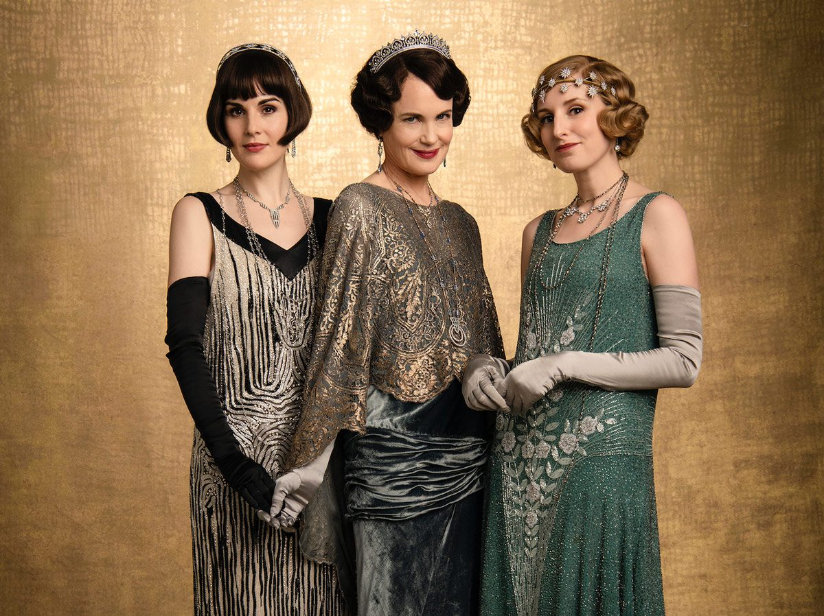 Michelle Dockery stars as Lady Mary, Elizabeth McGovern as Cora Crawley and Laura Carmichael as Lady Edith in Downton Abbey