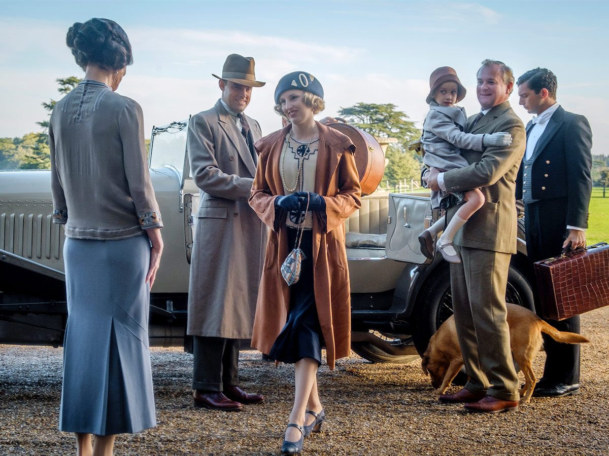 Elizabeth McGovern stars as Cora Crawley, Harry Hadden-Paton as Bertie Hexham, Laura Carmichael as Lady Edith, Hugh Bonneville as Robert Crawley and Michael Fox as Andy in Downton Abbey
