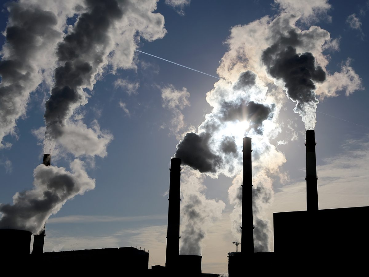 Good news - fossil fuels smokestacks