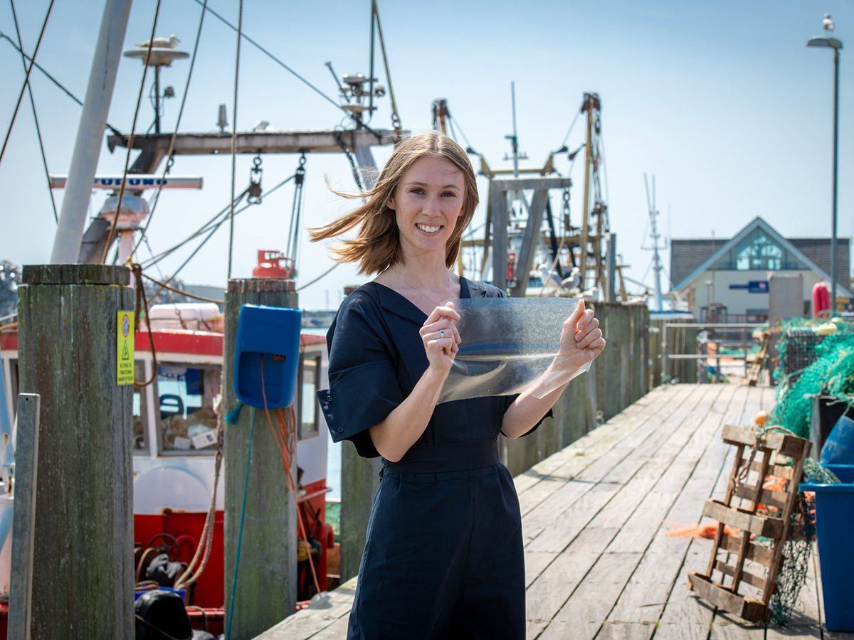 Good news - plastic alternative made from fish waste