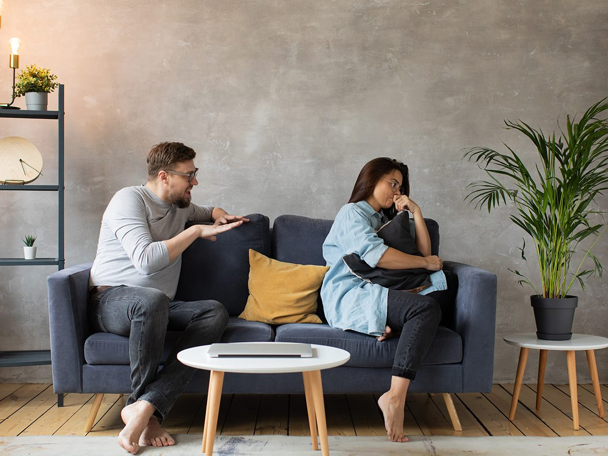 Relationship Fights Couple Couch - Couple arguing on the couch