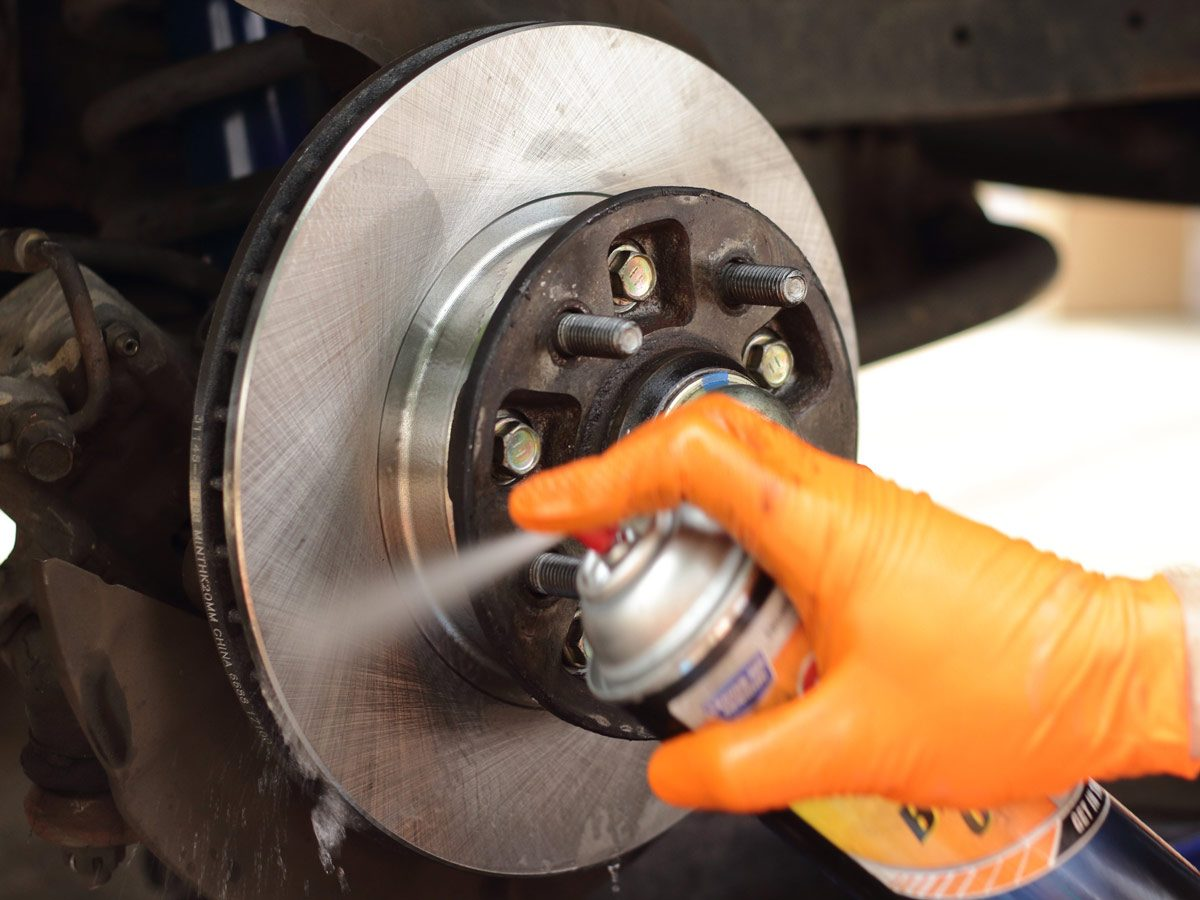 Remove rust from brake rotors