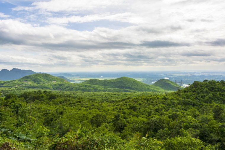 landscape in the green mountains of Myanmar at Pyin Oo Lwin