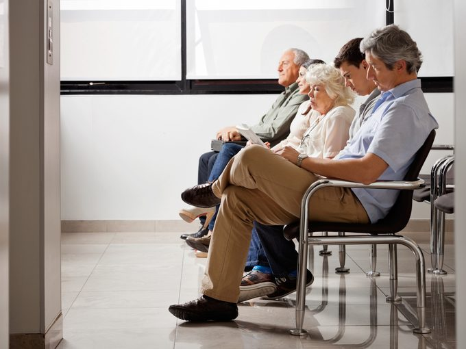 People waiting at a clinic