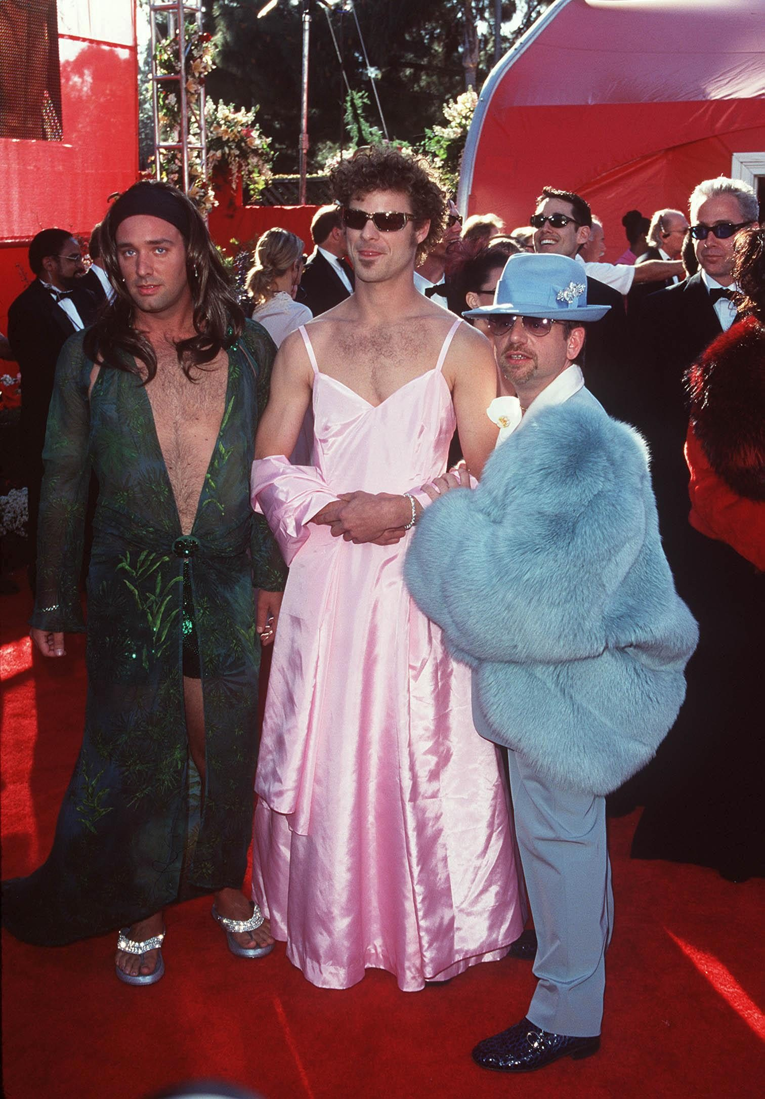 Mandatory Credit: Photo by Stewart Cook/Shutterstock (318826bp) TREY PARKER [ LEFT ] MATT STONE [ CENTRE ] AND MARC SHAIMAN 72ND ACADEMY AWARDS, SHRINE AUDITORIUM, LOS ANGELES, AMERICA - 26 MAR 2000