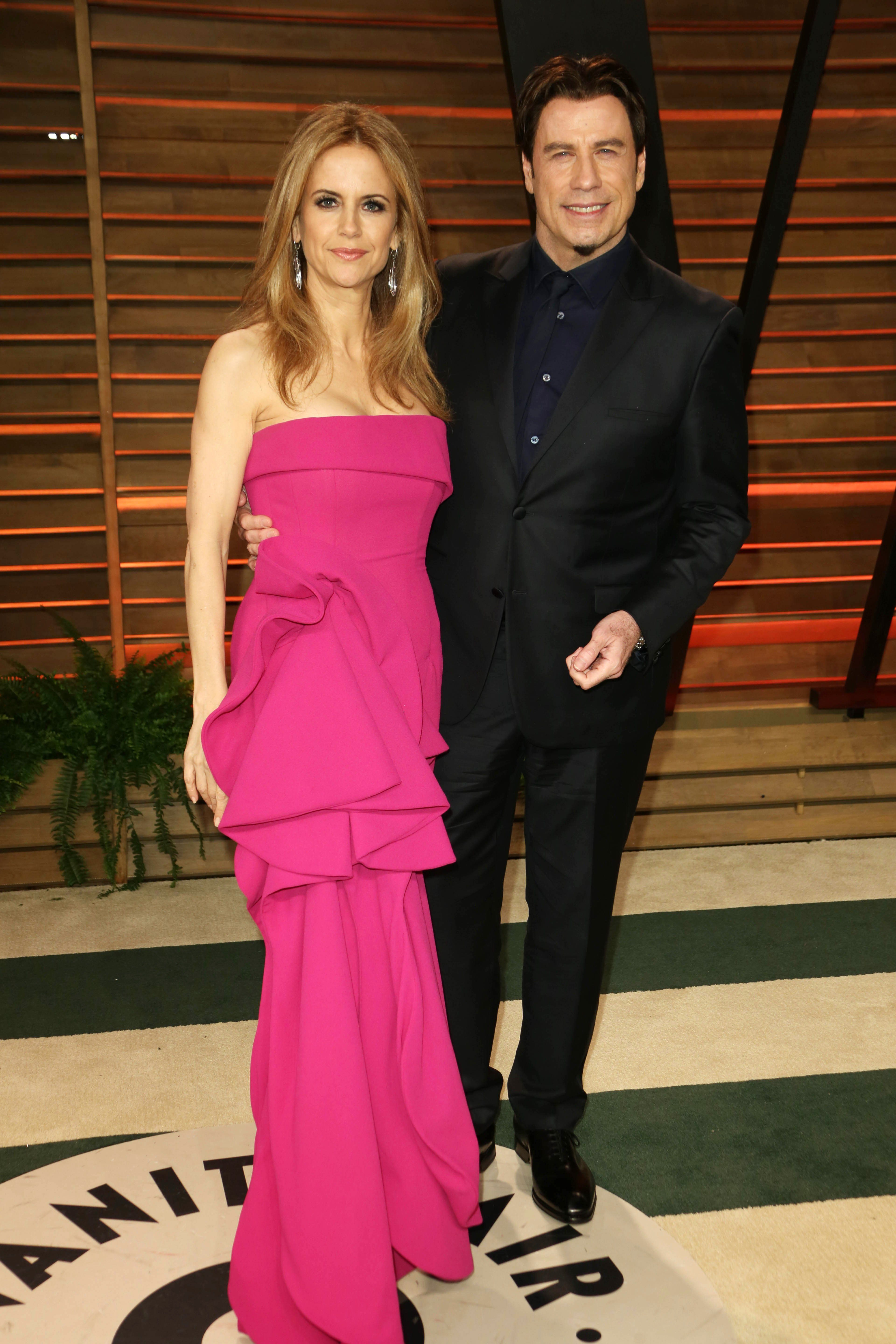 Mandatory Credit: Photo by Shutterstock (3613773ce) Kelly Preston and John Travolta 86th Annual Academy Awards Oscars, Vanity Fair Party, Los Angeles, America - 02 Mar 2014