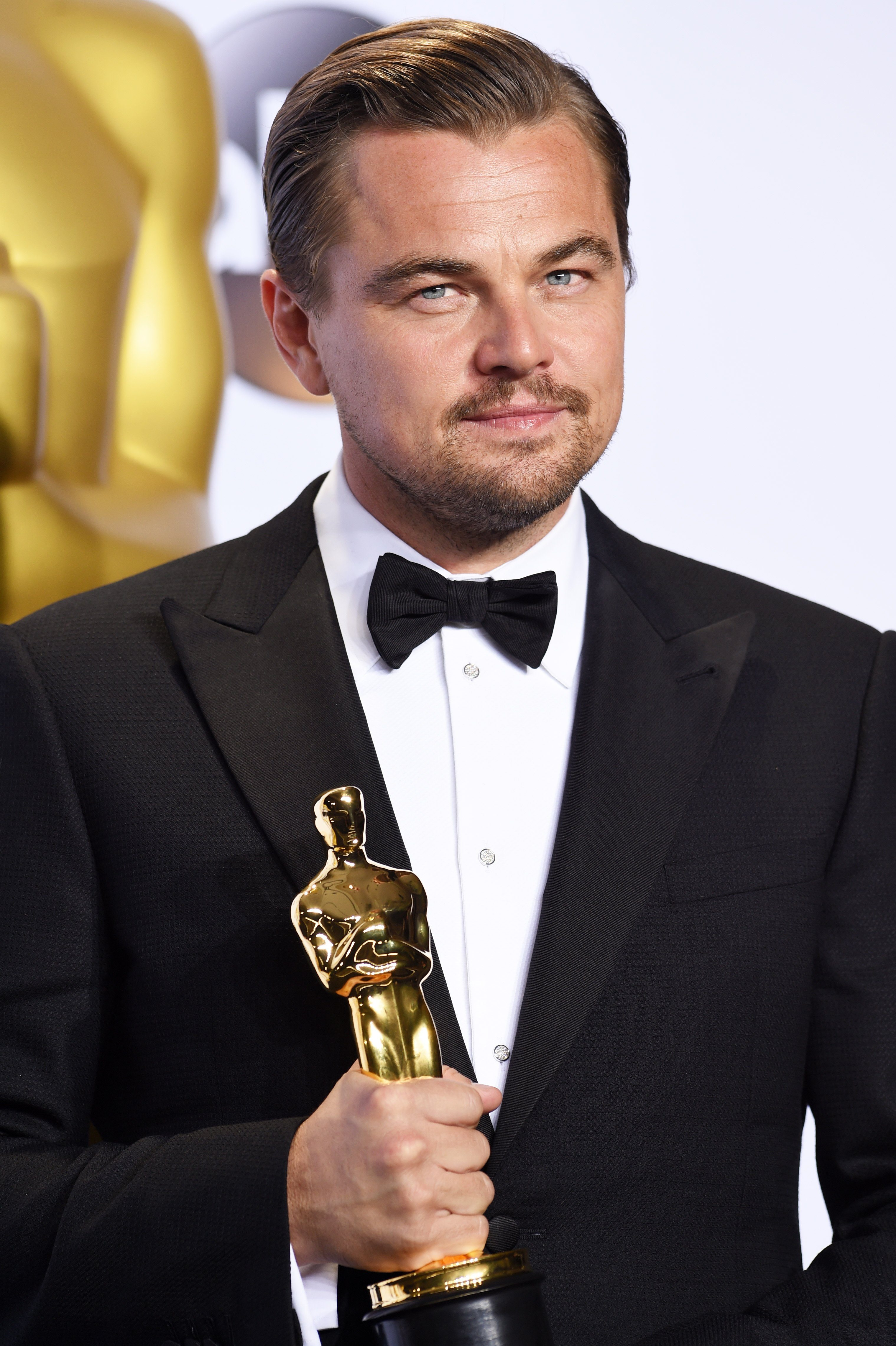 Mandatory Credit: Photo by David Fisher/Shutterstock (5599373ey) Leonardo DiCaprio - Performance by an Actor in a Leading Role, The Revenant 88th Annual Academy Awards, Press Room, Los Angeles, America - 28 Feb 2016