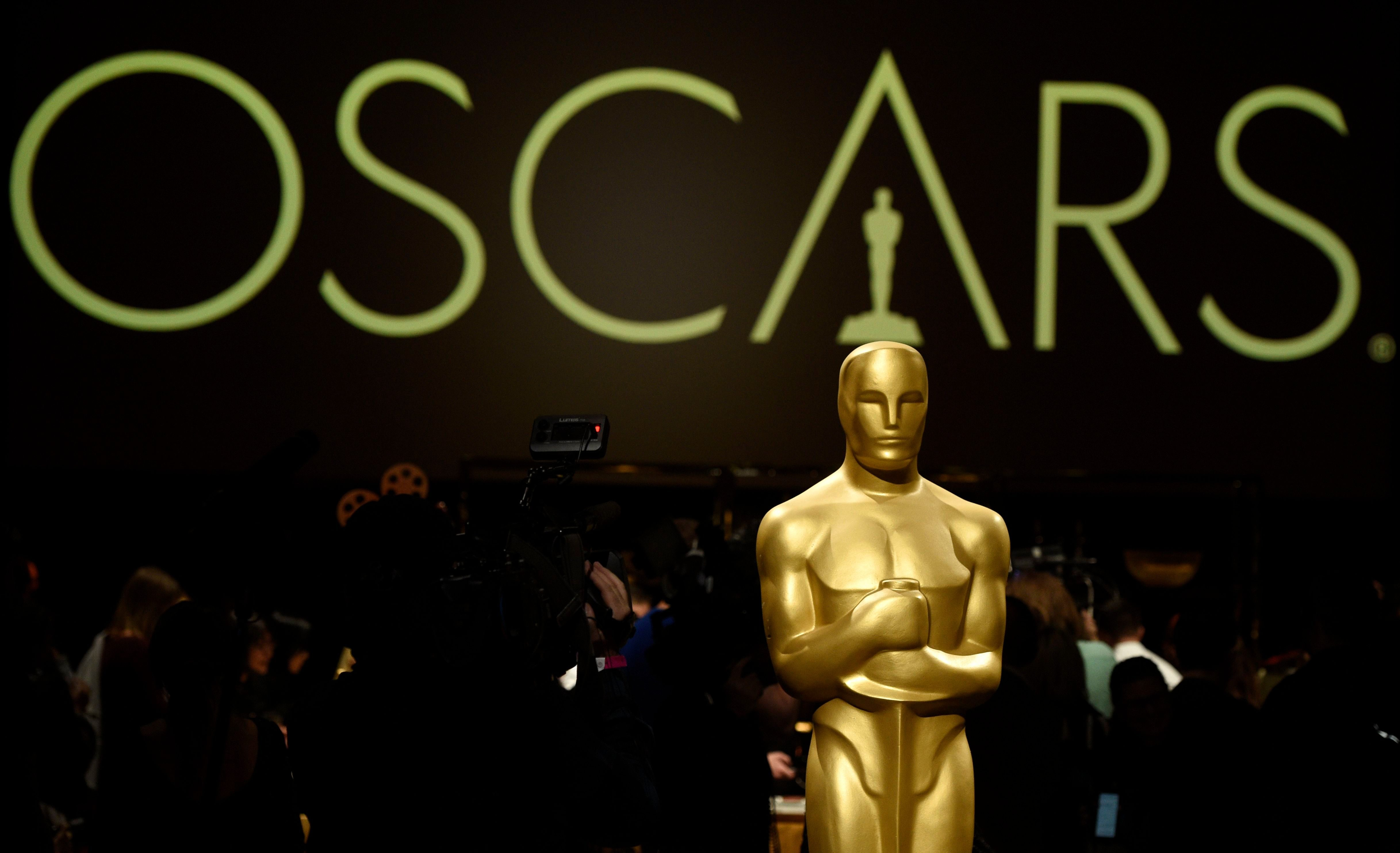 Mandatory Credit: Photo by Chris Pizzello/Invision/AP/Shutterstock (10108210g) An Oscar statue is pictured at the press preview for the 91st Academy Awards Governors Ball, in Los Angeles. The 91st Academy Awards will be held on Sunday, Feb. 24, at the Dolby Theatre in Los Angeles 91st Academy Awards - Governors Ball Press Preview, Los Angeles, USA - 15 Feb 2019