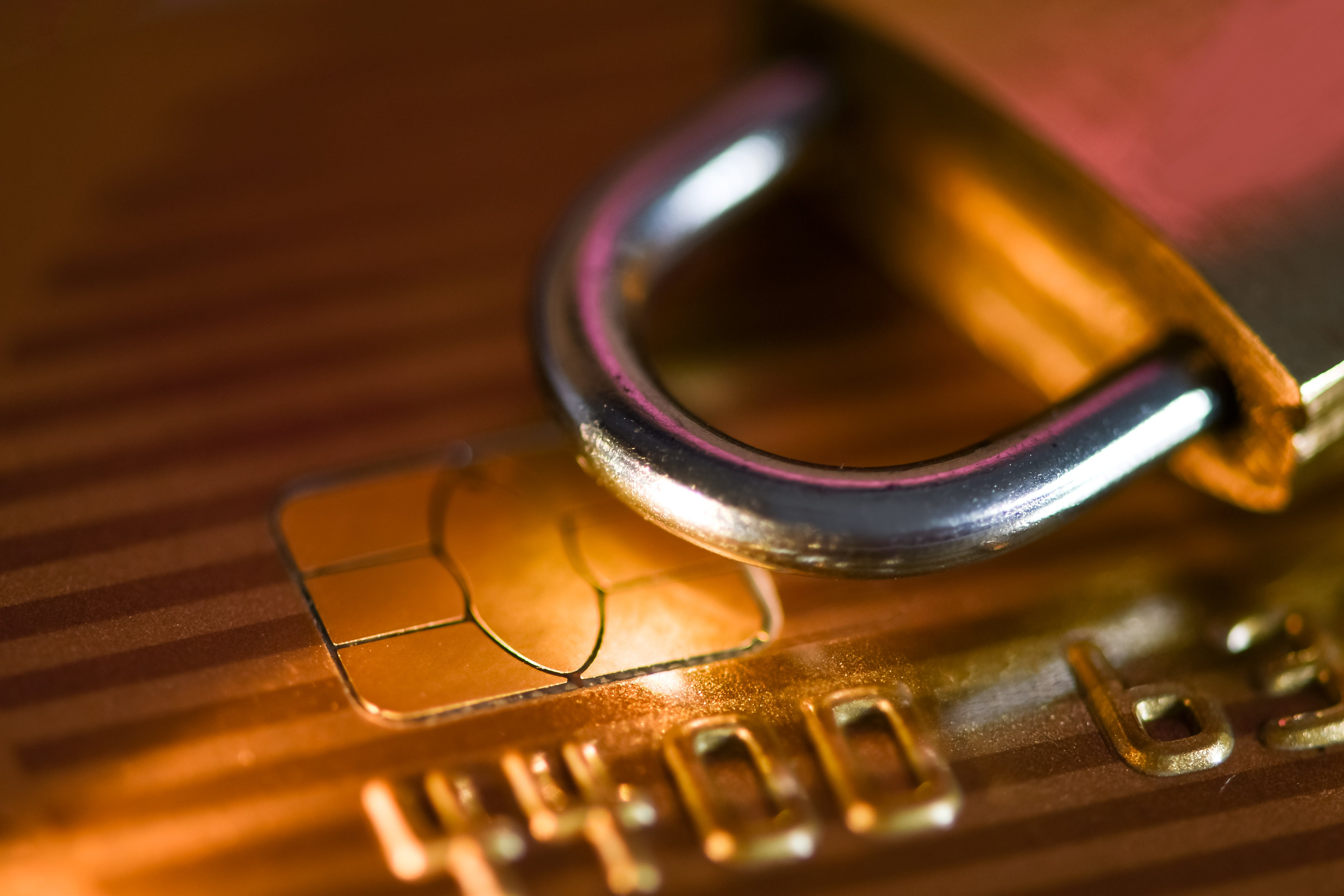 Concept credit card data security, online payments
