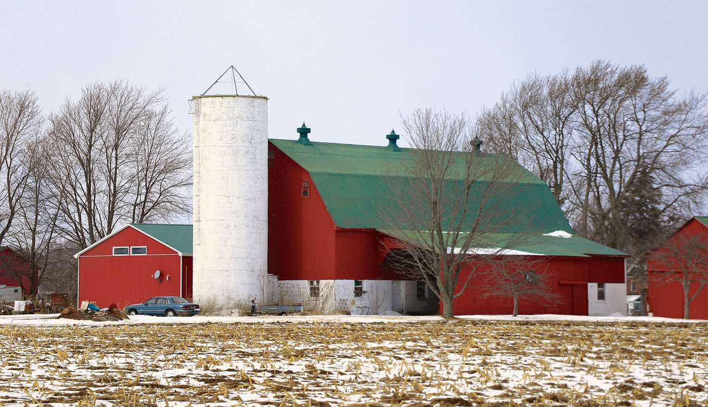 Red barn in Port Stanley, Ontario