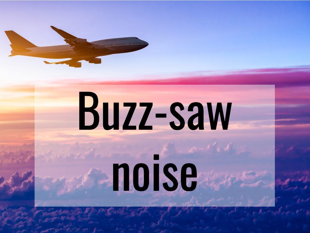 Aviation terms - what is buzz-saw noise
