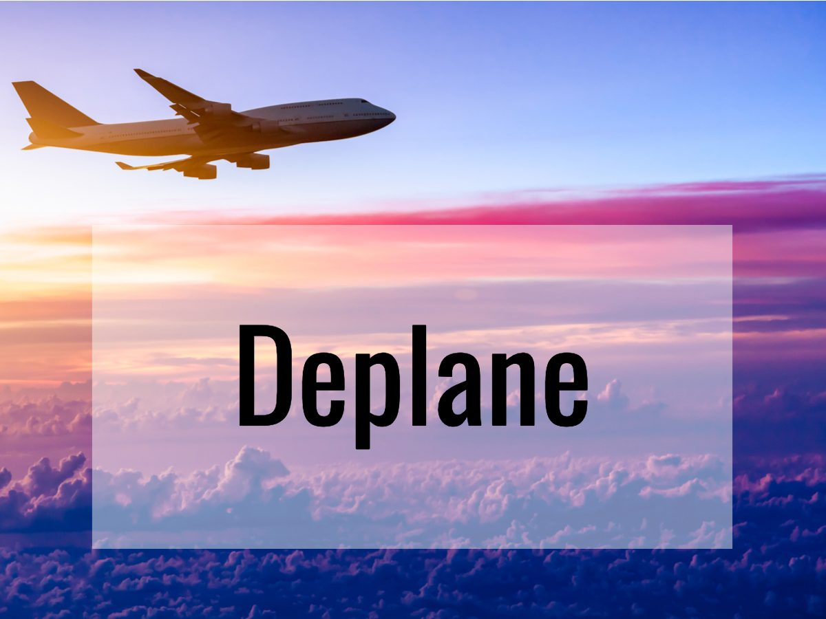 Aviation terms - what does deplane mean