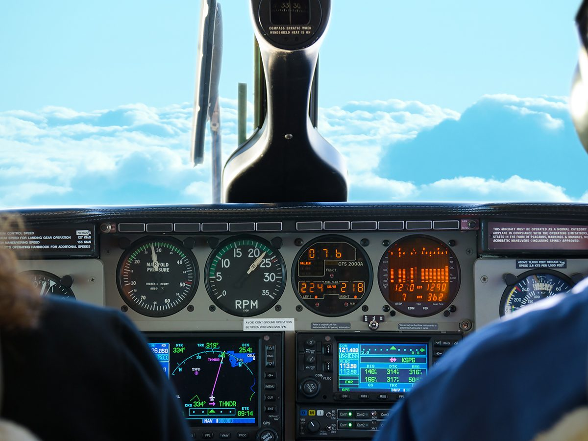 Aviation terms - flying lessons cockpit