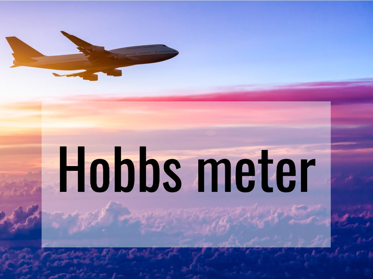 Aviation terms - hobbs meter