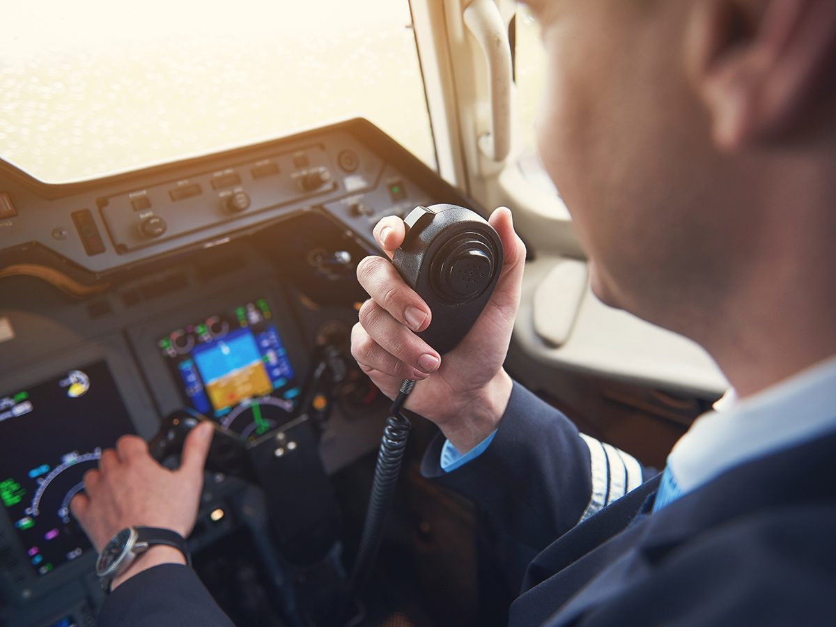 Aviation terms - pilot speaking on radio