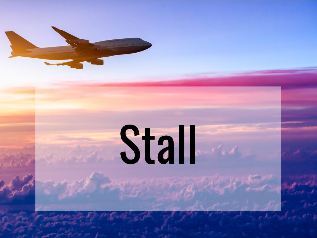Aviation terms - What does stall mean