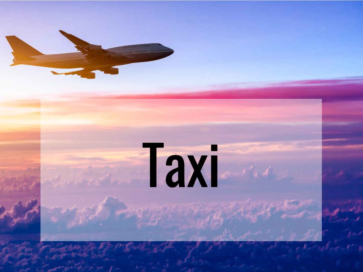Aviation terms - what does taxi mean