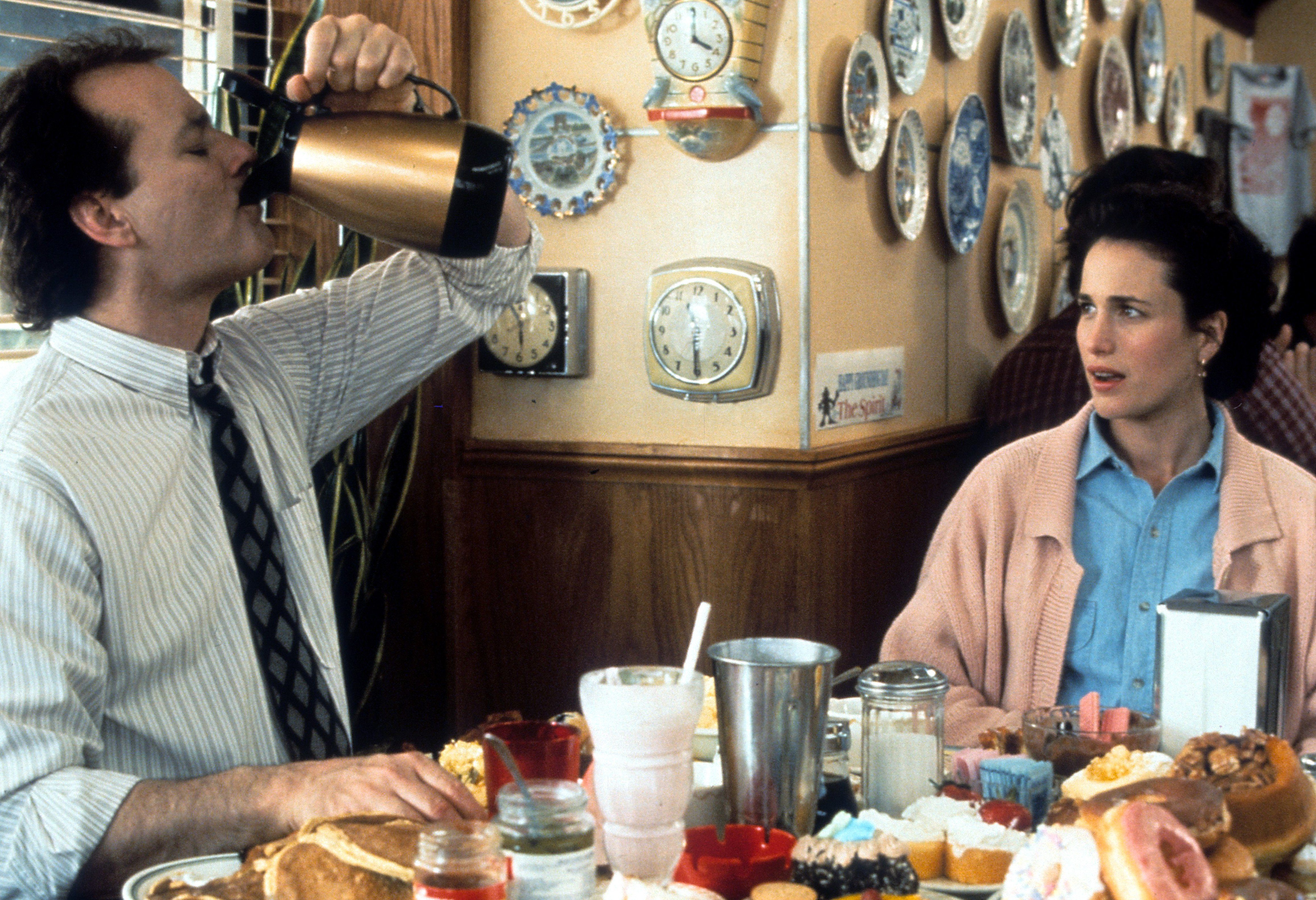"""Bill Murray and Andie MacDowell in """"Groundhog Day"""""""
