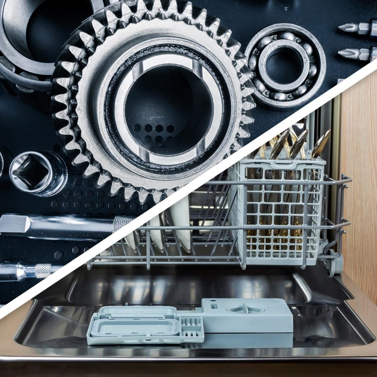 Car parts and dishwasher