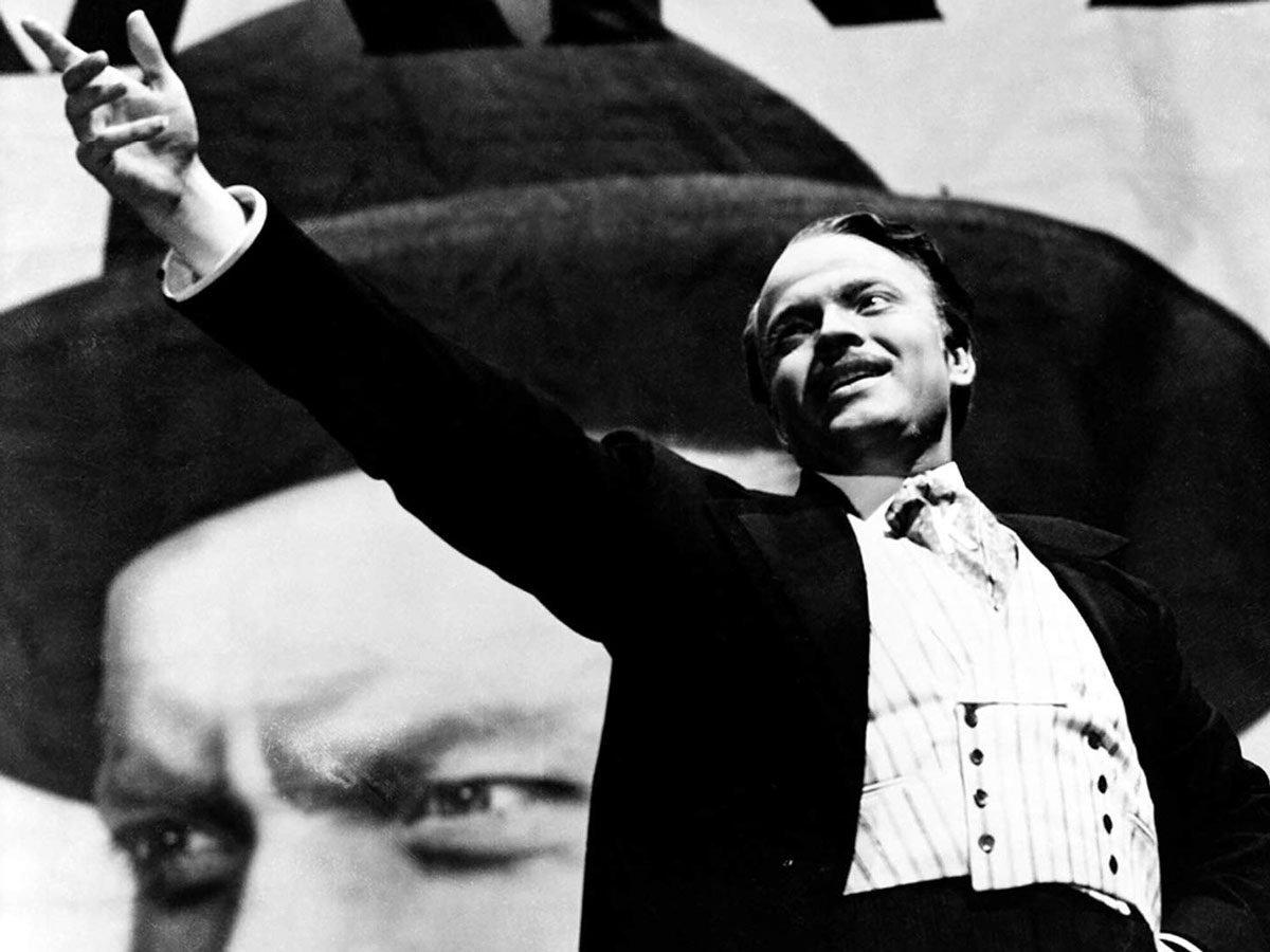"Orson Welles in ""Citizen Kane"""