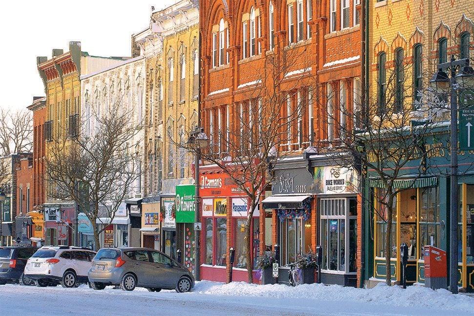 Downtown shopping in Stratford, Ontario